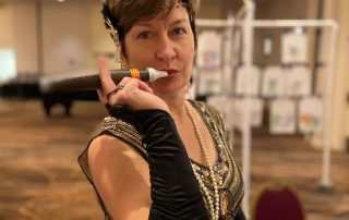 Jennifer Moser at our Great Gatsby Casino Night